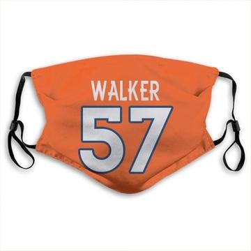 Denver Broncos DeMarcus Walker Orange Jersey Name & Number Face Mask