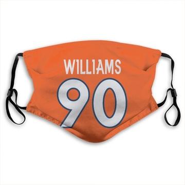 Denver Broncos DeShawn Williams Orange Jersey Name & Number Face Mask