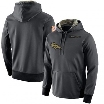 Men's Nike Denver Broncos Anthracite Salute to Service Player Performance Hoodie -