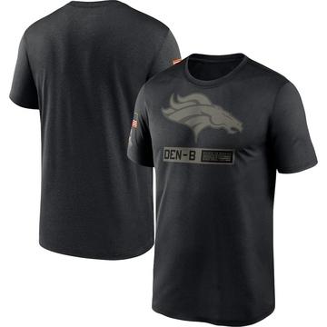 Men's Nike Denver Broncos Black 2020 Salute to Service Team Logo Performance T-Shirt -