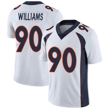 Men's Nike Denver Broncos DeShawn Williams White Vapor Untouchable Jersey - Limited