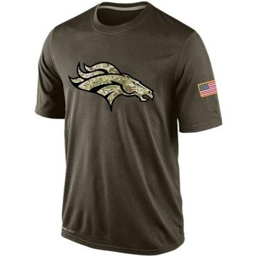 Men's Nike Denver Broncos Olive Salute To Service KO Performance Dri-FIT T-Shirt -