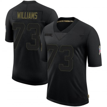 Men's Nike Denver Broncos Sylvester Williams Black 2020 Salute To Service Jersey - Limited