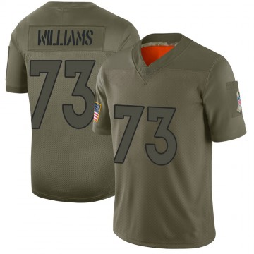 Men's Nike Denver Broncos Sylvester Williams Camo 2019 Salute to Service Jersey - Limited