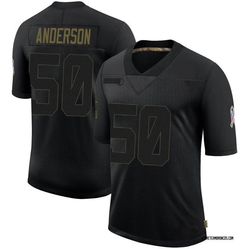 Men's Nike Denver Broncos Zaire Anderson Black 2020 Salute To Service Jersey - Limited