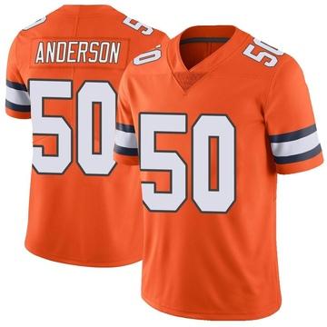 Men's Denver Broncos Zaire Anderson Orange Color Rush Vapor Untouchable Jersey - Limited