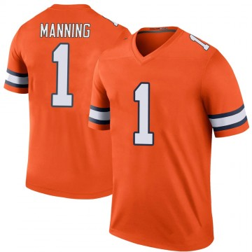 Men's Denver Broncos Zimari Manning Orange Color Rush Jersey - Legend