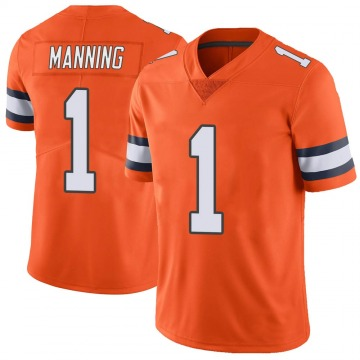 Men's Denver Broncos Zimari Manning Orange Color Rush Vapor Untouchable Jersey - Limited