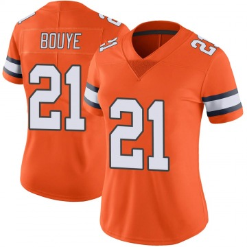 Women's Nike Denver Broncos A.J. Bouye Orange Color Rush Vapor Untouchable Jersey - Limited