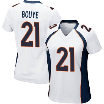 Women's Nike Denver Broncos A.J. Bouye White Jersey - Game