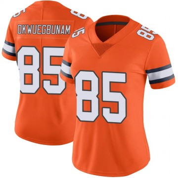Women's Nike Denver Broncos Albert Okwuegbunam Orange Color Rush Vapor Untouchable Jersey - Limited