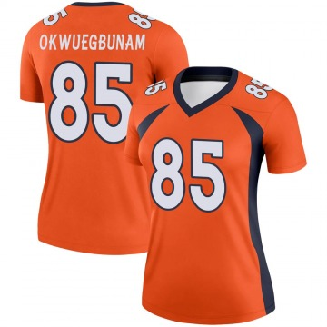 Women's Nike Denver Broncos Albert Okwuegbunam Orange Jersey - Legend