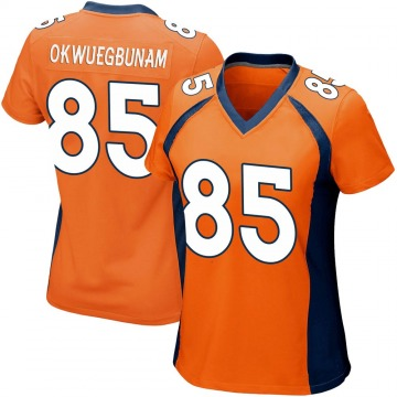 Women's Nike Denver Broncos Albert Okwuegbunam Orange Team Color Jersey - Game