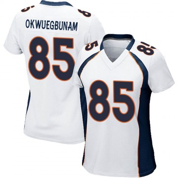 Women's Nike Denver Broncos Albert Okwuegbunam White Jersey - Game