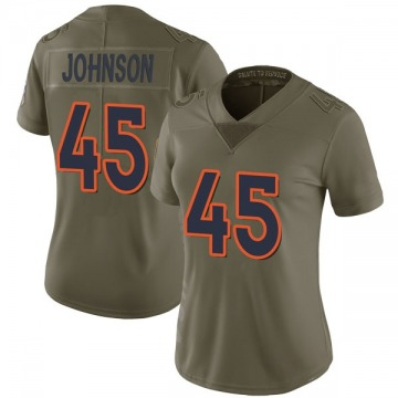 Women's Nike Denver Broncos Alexander Johnson Green 2017 Salute to Service Jersey - Limited