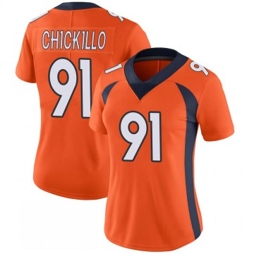 Women's Nike Denver Broncos Anthony Chickillo Orange 100th Vapor Jersey - Limited