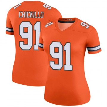 Women's Nike Denver Broncos Anthony Chickillo Orange Color Rush Jersey - Legend