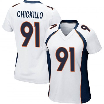 Women's Nike Denver Broncos Anthony Chickillo White Jersey - Game