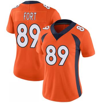 Women's Nike Denver Broncos Austin Fort Orange 100th Vapor Jersey - Limited