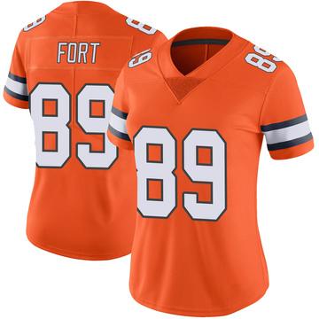 Women's Nike Denver Broncos Austin Fort Orange Color Rush Vapor Untouchable Jersey - Limited