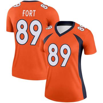 Women's Nike Denver Broncos Austin Fort Orange Jersey - Legend