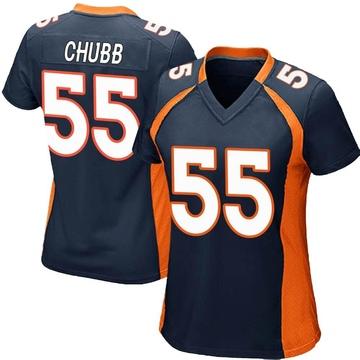Women's Nike Denver Broncos Bradley Chubb Navy Blue Alternate Jersey - Game