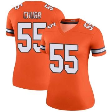 Women's Nike Denver Broncos Bradley Chubb Orange Color Rush Jersey - Legend