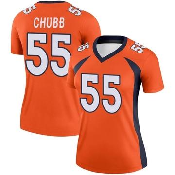 Women's Nike Denver Broncos Bradley Chubb Orange Jersey - Legend