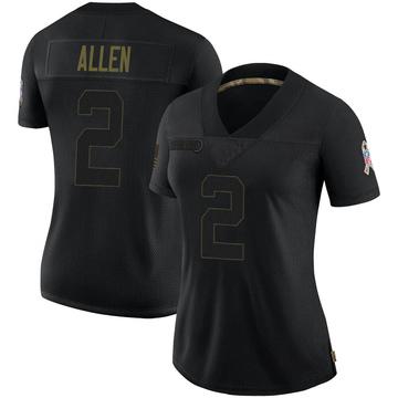 Women's Nike Denver Broncos Brandon Allen Black 2020 Salute To Service Jersey - Limited