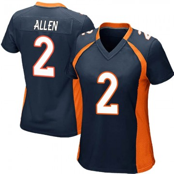Women's Nike Denver Broncos Brandon Allen Navy Blue Alternate Jersey - Game