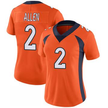 Women's Nike Denver Broncos Brandon Allen Orange 100th Vapor Jersey - Limited