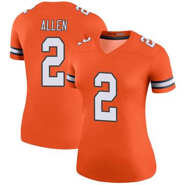 Women's Nike Denver Broncos Brandon Allen Orange Color Rush Jersey - Legend