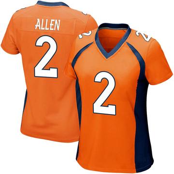 Women's Nike Denver Broncos Brandon Allen Orange Team Color Jersey - Game