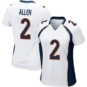 Women's Nike Denver Broncos Brandon Allen White Jersey - Game