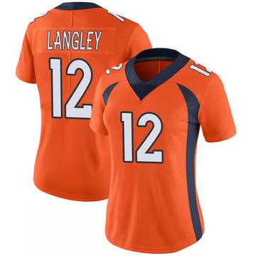 Women's Nike Denver Broncos Brendan Langley Orange 100th Vapor Jersey - Limited