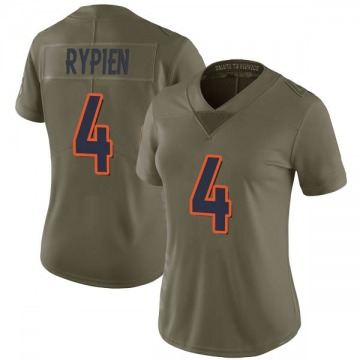Women's Nike Denver Broncos Brett Rypien Green 2017 Salute to Service Jersey - Limited