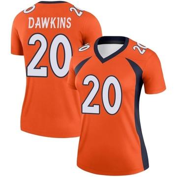 Women's Nike Denver Broncos Brian Dawkins Orange Jersey - Legend