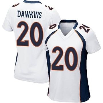 Women's Nike Denver Broncos Brian Dawkins White Jersey - Game