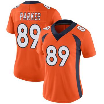 Women's Nike Denver Broncos Brian Parker Orange Team Color Vapor Untouchable Jersey - Limited