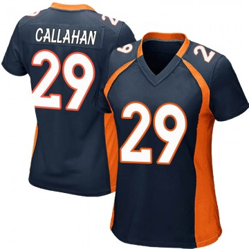 Women's Nike Denver Broncos Bryce Callahan Navy Blue Alternate Jersey - Game