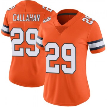 Women's Nike Denver Broncos Bryce Callahan Orange Color Rush Vapor Untouchable Jersey - Limited