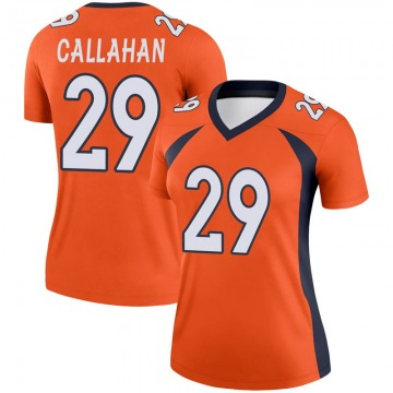 Women's Nike Denver Broncos Bryce Callahan Orange Jersey - Legend