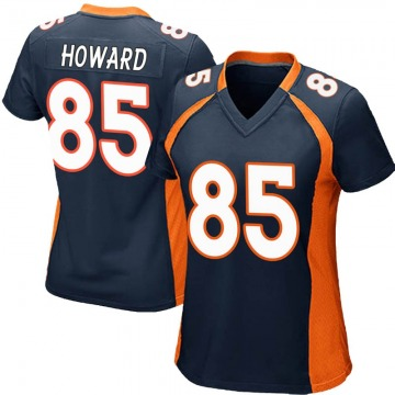 Women's Nike Denver Broncos Bug Howard Navy Blue Alternate Jersey - Game