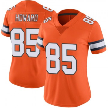 Women's Nike Denver Broncos Bug Howard Orange Color Rush Vapor Untouchable Jersey - Limited