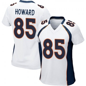 Women's Nike Denver Broncos Bug Howard White Jersey - Game