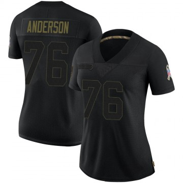 Women's Nike Denver Broncos Calvin Anderson Black 2020 Salute To Service Jersey - Limited
