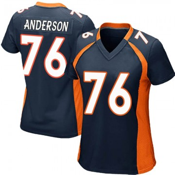 Women's Nike Denver Broncos Calvin Anderson Navy Blue Alternate Jersey - Game
