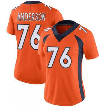 Women's Nike Denver Broncos Calvin Anderson Orange 100th Vapor Jersey - Limited