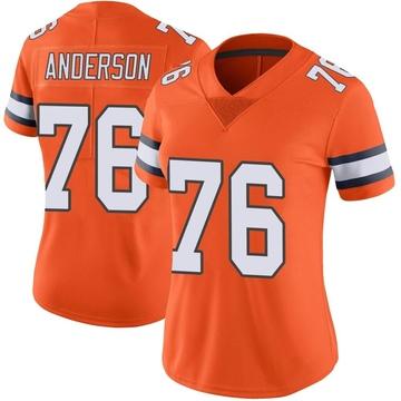 Women's Nike Denver Broncos Calvin Anderson Orange Color Rush Vapor Untouchable Jersey - Limited
