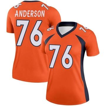Women's Nike Denver Broncos Calvin Anderson Orange Jersey - Legend